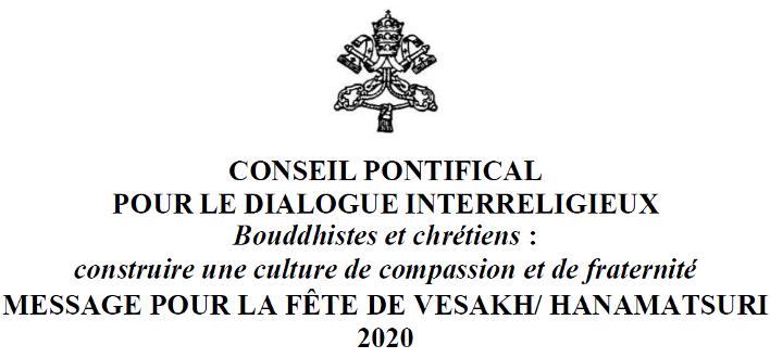 Message de Sa Sainteté le Pape François